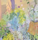 Garden bed by Suzy Fasht, Painting, Gouache