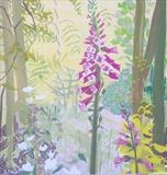 Garden with foxgloves by Suzy Fasht, Painting, Gouache