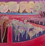 Queen Mary's Gardens, Regent's Park by Suzy Fasht, Painting, Oil on canvas