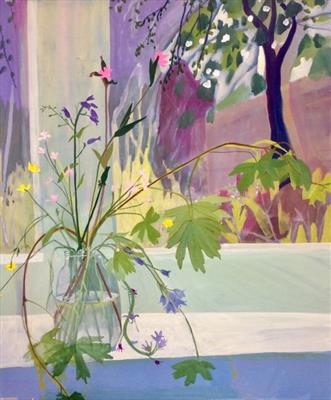 Flowers from the hedgerow by Suzy Fasht, Painting, Gouache